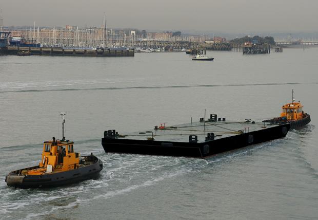 ABS Load Line Spud Barge